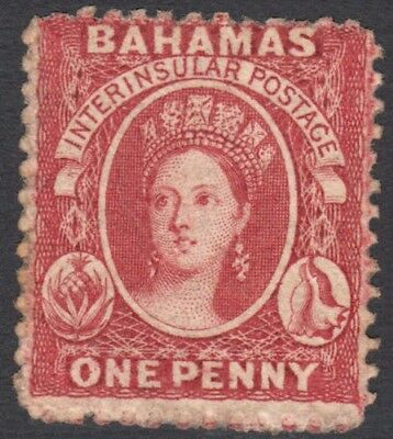 Bahamas SG16 1862 1d MINT Heavily Hinged Cat £900