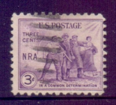 United States  1933  National Recovery Act, used.