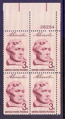 United States  1958  Lincoln x 4 Plate #, MNH.