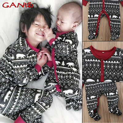 Christmas Baby Girls Boys Babygrow Romper Bodysuit Jumpsuit Outfits Clothes Pjs