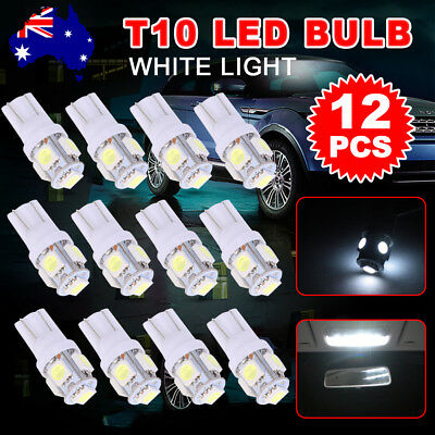 T10 LED Car Number Plate White Light 5050 SMD W5W Wedge Tail Side Parker Bulb
