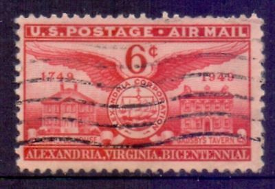 United States  1949  Airmail, Ann. Foundation of Alexandria, used.