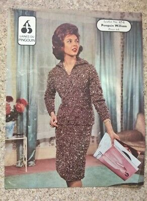 Vintage Ladies Suit To Knit Pattern By Laines Du Pingouin