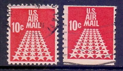 United States  1968  Airmail, 50 Star Runway, used.
