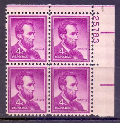 United States  1954/68  Abrahim Lincoln plate #, MNH.