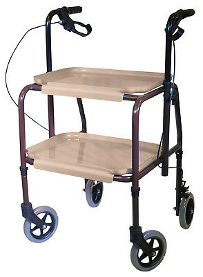 Aidapt Height Adjustable Mobility Walking Aid Kitchen Strolley Trolley + Brakes