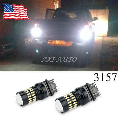 2X 48SMD 3157 High Power LED Projector 6000K Xenon White Turn Signal Light Bulbs