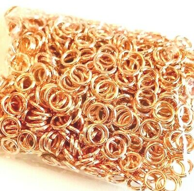 100 Super Strong Jump Rings Jewellery Making Findings - 5mm x 0.9mm - lady-muck1