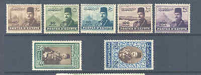 Egypt 1947 King Farouk Set Very Fine Mnh Fine And Fresh