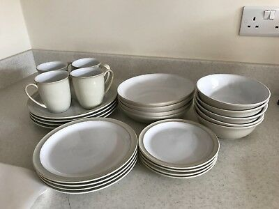 Denby Linen Dinner Service x 4. Very good condition. No chips or cracks.
