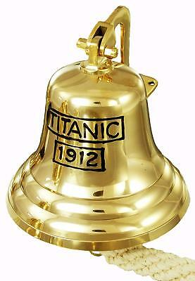Titanic Solid Brass Ship Bell/ Last orders/Pub/Wall Mounted/Door /School Bell 6""