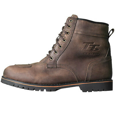 RST IOM TT 2245 Roadster Motorcycle Motorbike Leather Casual Boots - Brown