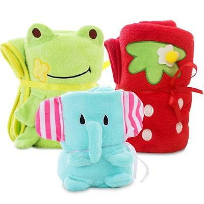 Flannel Blankets Cartoon Animal Air-condition Throws Blanket Collapsible Kids