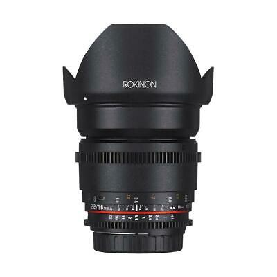 Rokinon 16mm T2.2 Cine DS Lens for Canon EF-S Mount #DS16M-C