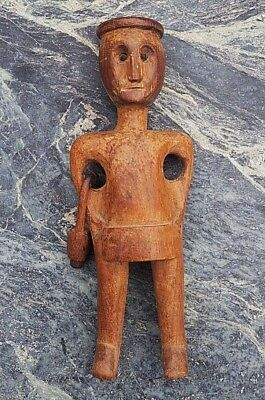 Fine Quality South African Carved Wooden Traditional Zulu Male Figure With Bag!