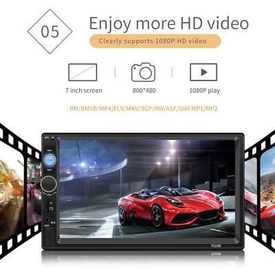 """Bluetooth Car Stereo Radio 2 DIN 7"""" HD MP5 FM Player Touch Screen GPS AUX Audio"""
