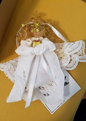 Handmade Fabric Angel Figure Ornament or Keepsake