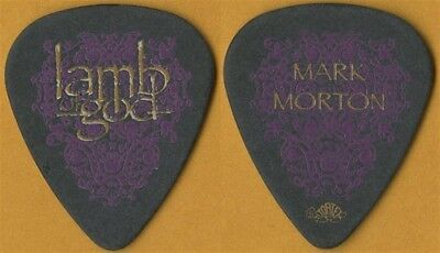 Lamb of God Mark Morton authentic 2006 Sacrament tour custom stage Guitar Pick