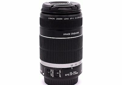 Canon Zoom Lens EF-S 55-250mm 1:4-5.6 IS Image Stabilizer Lens