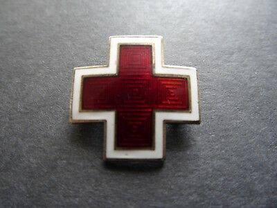 Vintage Sterling Silver & Enamel Red Cross Badge/pin - Hospital- Nursing