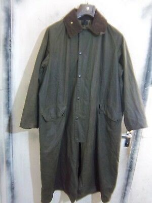 Vintage Barbour Burghlry Waxed Riding Jacket Size C44 112Cm