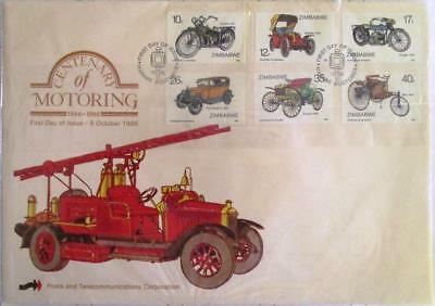 Zimbabwe 1986 Centenary of Motoring FDC