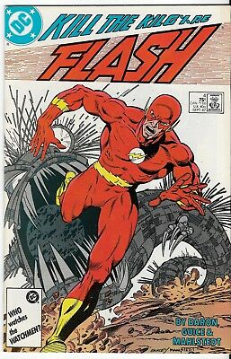 1987 The Flash Issue #4 Dc Comic Book Bag/board Rare Vintage