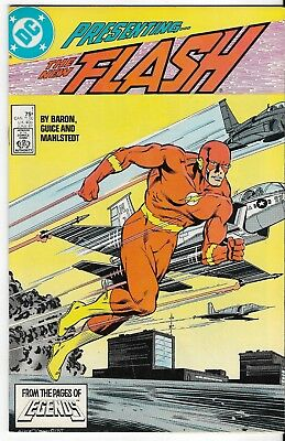 1987 The Flash Issue #1 Dc Comic Book Bag/board Rare Vintage