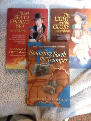 All 3 Light and The Glory for Children Books - Peter Marshall Sea to Shining Sea