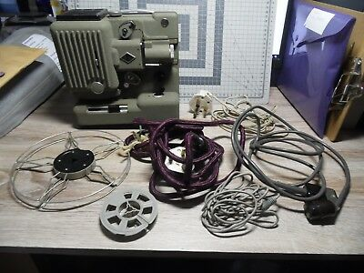 Eumig Wien Type P8 vintage antique projector made in Austria with spools& cables
