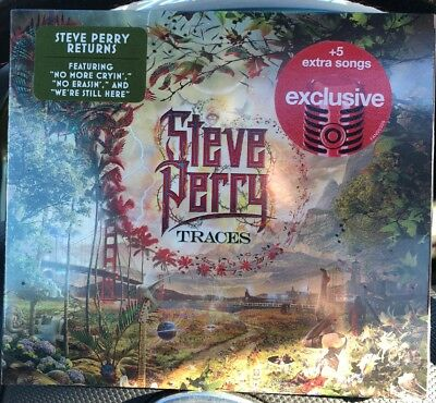 Steve Perry Traces CD TARGET EXCLUSIVE +5 BONUS TRACKs JOURNEY Rock 10/5 New