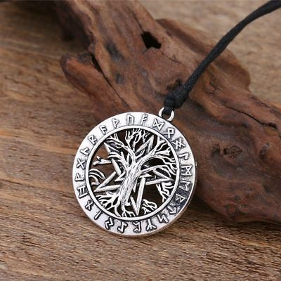 Pagan Nordic Vikings Runes Amulet The Pendant Necklace The Tree of Life Talisman
