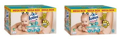 2 x Mega Box 96 couches Lotus Baby natural touch T. 3 de 4 à 9 kg = 192 Couches