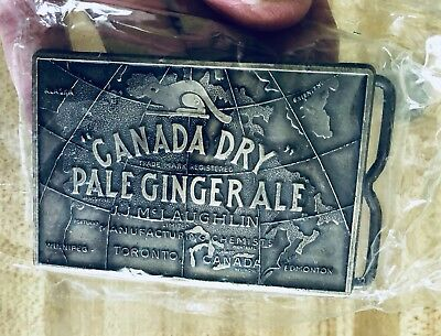 Hawaii Canada Dry Convention 1985 Pale Ginger Ale Belt Buckle  Never Used!