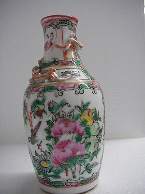 """VINTAGE or ANTIQUE? HAND PAINTED CHINESE VASE, 6"""" TALL"""
