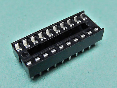 """10x IC SOCKET Stamped and Formed Contacts DIL Socket 20 Way 0.3"""""""