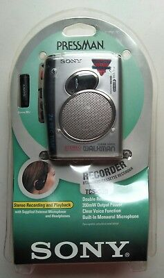 NEW Sony TCS-30D Pressman Cassette Recorder w/ Stereo Recording / Playback, more