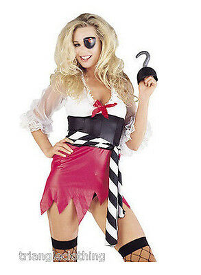 Ladies Womens Pirate Fancy Dress Costume Outfit Full Sexy Buccaneer Halloween