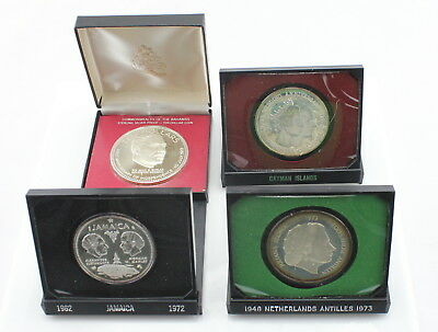 Lot Of **4** Caribbean Commemorative Silver Proof Coins No Reserve #2764