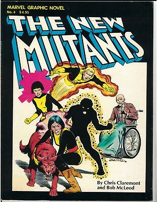 Marvel Graphic Novel 4 1st Printing New Mutants Cable Deadpool X-Force X-Men VG