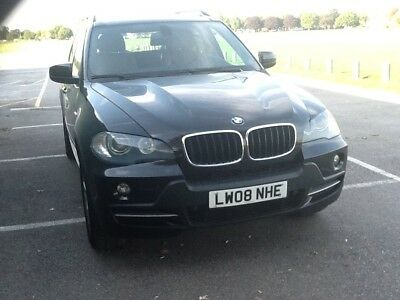 Lhd Bmw X5 E70 3.0D 2008 Autom Black Brown Leather Fond Dvd And Game