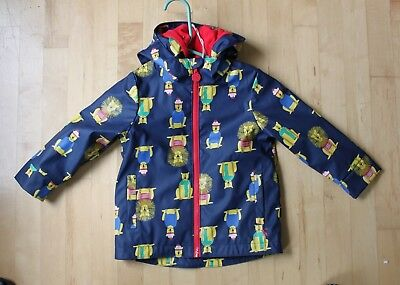 Joules fleece lined raincoat - navy lions - 3 years