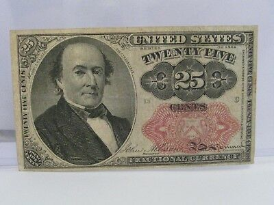 1874 5th Issue Fr.1308 25¢ cent US Fractional Currency Note.