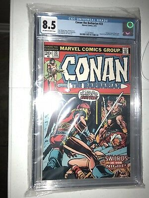 CONAN THE BARBARIAN #23 CGC 8.5 VF+ 1st RED SONJA Marvel Comic Book Appearance