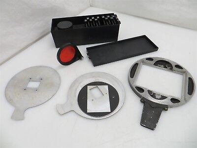 Dark Room Tools & Accessory Lot: Negative Carriers, Safelite Filter, VC Set