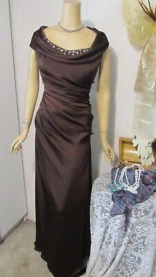 Mother Of The Bride Dress by Jade Couture-Size 16- Chocolate