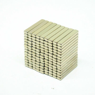 10pcs Neodymium Magnet Rare Earth Block Strong Craft Magnets 30x10x2//3//4//5mm N35