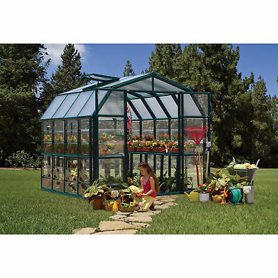 Rion Grand Gardener 2 Clear Greenhouse - 8ft.W x 8ft.L, Model# HG7208C