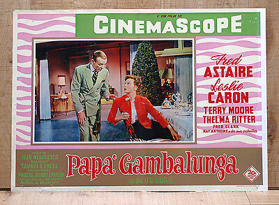 PAPà GAMBALUNGA fotobusta poster affiche Fred Astaire Caron Daddy Long Legs BD15