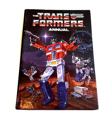 The First British UK TRANSFORMERS Toys G1 Hardback Comic annual No.1 from 1980's